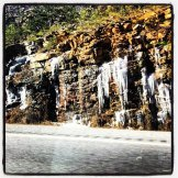 Road Trip: Frozen rock face in Tennessee